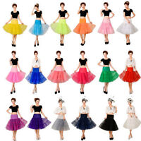 "26""50s Retro Underskirt Swing Vintage Petticoat Fancy Net Skirt Rockabilly Dress"