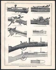 BREECH-LOADING RIFLES 1890 Prussian Needle-Gun - Chassepot VICTORIAN ENGRAVING