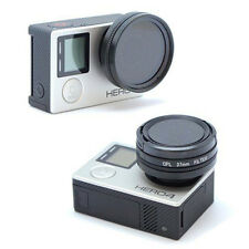 37mm Glass CPL Filter Circular Shape Black Polarized Lens For Gopro HD Hero 4 LS