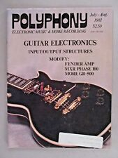 Polyphony Magazine - July/August, 1981 ~~ Electronic Musician precursor