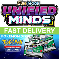 50 Unified Minds Codes Pokemon TCG Online Booster PTCGO Sun & Moon sent INGAME
