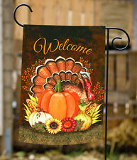 New Toland - Harvest Turkey - Fall Autumn Thanksgiving Welcome Garden Flag