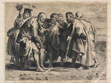 Belle gravure ancienne Peter Rubens Vorsterman La pêche miraculeuse Collection