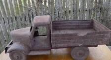 Vintage collectibl ZIS Soviet tin toy car Big Truck LTZ Steel USSR Soviet