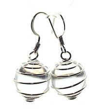 Quartz Silver Plated Fashion Earrings