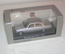 Mercedes-benz 230 e - 280 E-W 123 sedán-plata-Minichamps 1:43!