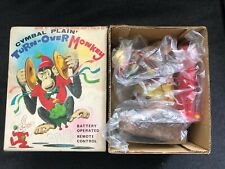 Vintage Cymbal Plain Turn-Ver Monkey w/ Box Tn Japan Battery Op Operated tested