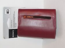 SONY LCS HH Cyber Shot Carrying Case Protects Camera Burgundy
