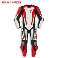 """""""REVOKO"""" NEW Motorcycle Red Motorbike Racing One Two Piece Leather SUIT Armour"""
