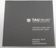 Tag Heuer Grande Date Quartz Chronograph Original Instruction Booklet
