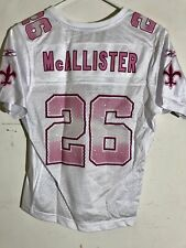 Reebok Women's NFL Jersey New Orleans Saints Deuce McAllister White Fashion sz S