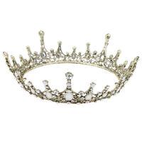 Luxury Rhinestone Baroque Bridal Crown Tiara Wedding Bride Headband Headwear