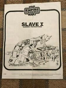 Vintage Star Wars Original Palitoy Slave 1 Instruction Sheets 1980's See Photos