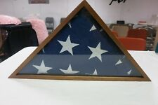 New Flag Case For American Veteran Burial Flag- Cherry Finish Shadow Boxes Home