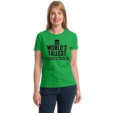 World's Tallest Leprechaun Women's T-shirt funny drinking St. Patrick's Day tee