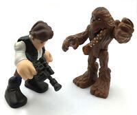 Toy 2pcs Playskool Star Wars Hasbro Galactic Heroes HAN SOLO & CHEWBACCA Figures