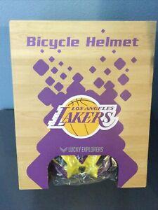 LOS ANGELES LAKERS BICYCLE / BIKE HELMET PURPLE YELLOW NBA LUCKY EXPLORERS NEW