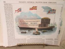 Vintage Print,SPAULDING+ROGERS,Floating Circus Palace,1850s,Gleasons