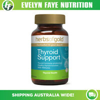 HERBS OF GOLD Thyroid Support - 60 Tablets | Adrenal Support | Tyrosine