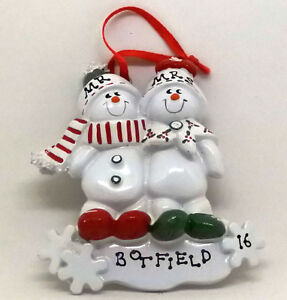 Personalised Christmas Decoration/Ornament - Snow Family