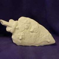 Ceramic bisque Kimple Prairie Buffalo Hunter ready to paint