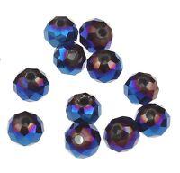 25 TSCHECHISCHE KRISTALL Glasschliffperlen GLASPERLEN 4mm Fire-Polished Blau X47