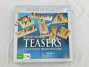 Solid Wood Teasers Cardinal Games Peg Brain Game Collection 2007 Gently Used