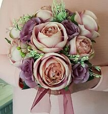 Beautiful Bridal, Vintage Blush Bouquet 10 inch Posy Arrangement ....Elegant.🌹