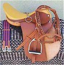 """19"""" NEW LEATHER CAMBRIDGE ENGLISH JUMP ALL PURPOSE SADDLE PACKAGE TAN"""
