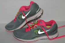 Nike Lunareclipse 2 + Running Shoes, #487974-007, Gray/Pink/Lime, Womens US 7.5