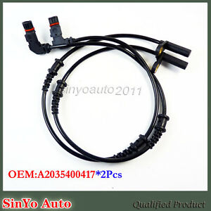 FOR Mercedes Benz R171 W203 W209 C240 Front ABS Speed Sensor Set of 2 2035400417