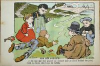 J. Duch/Artist-Signed 1910 French Postcard: Children Smoking Cigarettes & Pipes
