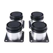 4�— Edelstahl Einstellbare Möbel Beine Metall Runde Sofa Tisch Schrank Fü�Ÿe