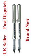 2 X UB-157 Fino Uniball Eye Roller Ball Pen 0.7mm Negro Genuine Mitsubishi