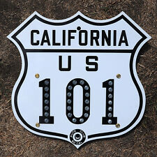 California ACSC glass reflector US route 101 highway road sign auto club AAA
