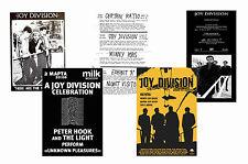 JOY DIVISION - SET OF 5 - A4 POSTER PRINTS # 2