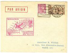 1ere LIAISON AERIENNE DE NUIT PARIS PAU 10. 5. 1935