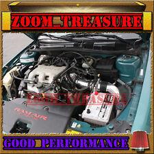 BLACK RED 1997-2003/97-03 CHEVY MALIBU 3.1L V6 FULL COLD AIR INTAKE KIT 3pc