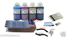 4x250ml Ink+CISS Refillable Cartridge for Brother LC71 75 J625DW J6510DW J6910dw