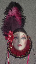 Clay Art Mask...GLAMOROUS HARLEQUIN...EXTREMELY RARE!!
