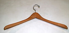 "18"" Contoured Coat Hanger 1"" Natural Finish Lot of 50 Nib *wolfsmarine*12515"