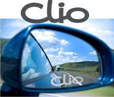 CLIO Sticker Decal Etched Glass Effect  Mirror Styling