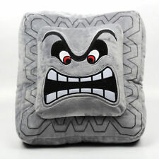 Super Mario Bros Figure Cushion Pillow - 6in Thwomp Dossun Plush Doll Size S