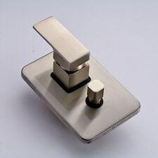 Bathroom Control Valve 2 Ways Shower Mixer Value W Diverter Brushed Nickel Brass