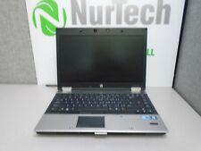 "HP EliteBook 8440p 14"" i5 2.4GHz 4GB/160GB Webcam DVDRW 'NO BATTERY' Laptop + AC"