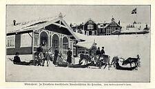 Wintersport Norwegen Trontheim Renntierschlitten für Touristen Magazin-Foto 1908