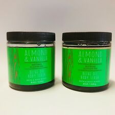 2 Bath & Body Works Almond & Vanilla Body Scrub With Olive Oil 8 oz 226 g