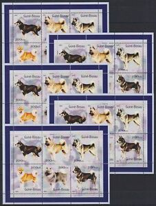 Z465. 5x Guinea -Bissau - MNH - Animals - Cats - Dogs
