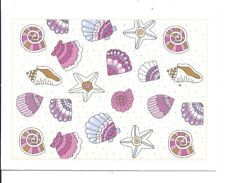 Lot 3 Greeting cards + 3 envelope -sea shell flower tree butterfly Thinking You
