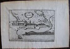 CARTE DE CALAIS  . Par TASSIN. Carte originale de 1633.  Dimensions de la feuill